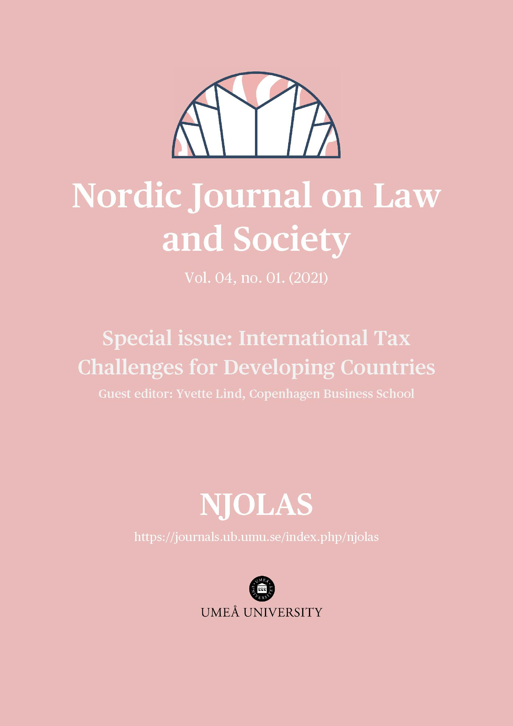 View Vol. 4 No. 01 (2021): Special Issue: International Tax Challenges for Developing Countries